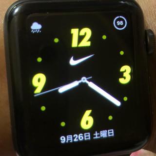 アップルウォッチ(Apple Watch)のアップルウォッチ3 NIKE42mmアルミニウム(腕時計(デジタル))