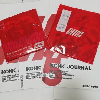 アイコン(iKON)のiKONIC JOURNAL 3冊&カード2種(アイドルグッズ)
