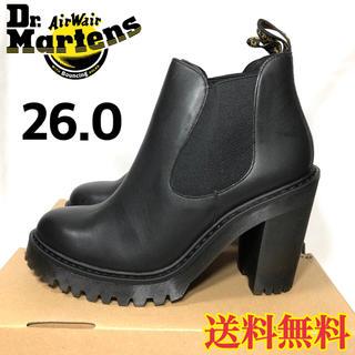 ドクターマーチン(Dr.Martens)の【新品】ドクターマーチン チャンキーヒール チェルシーブーツ ブラック 26.0(ブーツ)
