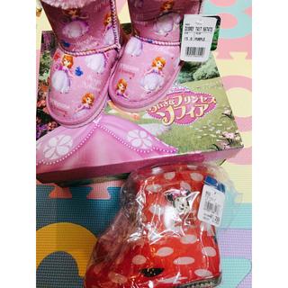 ディズニー(Disney)の新品! Disney   子供用 ブーツ 15cm  と  長靴 14cm(長靴/レインシューズ)