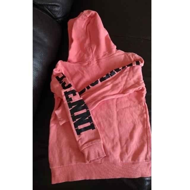 JENNI(ジェニィ)のJENNI 140cm 女の子 フード付きトレーナー パーカー キッズ/ベビー/マタニティのキッズ服女の子用(90cm~)(Tシャツ/カットソー)の商品写真