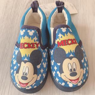 ディズニー(Disney)の◆未使用◆ミッキー スリッポン◆13.0cm◆ブルー◆(スリッポン)