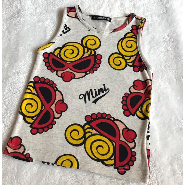HYSTERIC MINI(ヒステリックミニ)のフェイスタンク キッズ/ベビー/マタニティのキッズ服女の子用(90cm~)(Tシャツ/カットソー)の商品写真