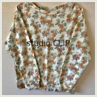 スタディオクリップ(STUDIO CLIP)のstudio CLIP スタジオクリップ Tシャツ トップス 長袖 M 花柄 (シャツ/ブラウス(長袖/七分))