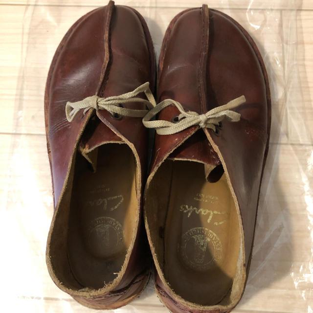 Clarks(クラークス)のクラークス センターシーム レザー 赤茶 NIGO コーネリアス ビンテージ メンズの靴/シューズ(ブーツ)の商品写真