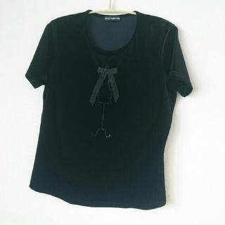 フォクシー(FOXEY)のフォクシー ベロア 半袖 40(カットソー(半袖/袖なし))