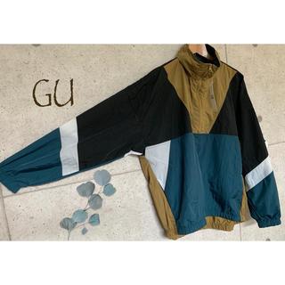 GU - GU ジーユー メンズ アノラックジャケット ジャケット スポーティー アウター