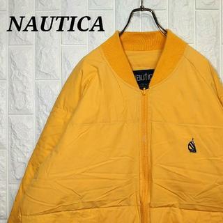 NAUTICA - ノーティカ 90s 薄手 ダウンジャケット 刺繍ワンポイント