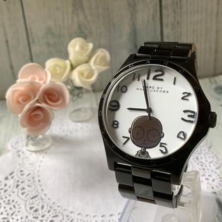 マークバイマークジェイコブス(MARC BY MARC JACOBS)の【美品】MARC BY MARC JACOBS 腕時計 ボーズ メンズ ブラック(腕時計(アナログ))