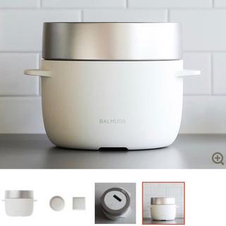 バルミューダ(BALMUDA)の超美品! 1回のみ使用 バルミューダデザイン K03A-WH (炊飯器)