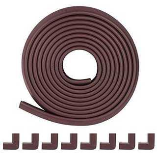 L型 ブラウン 5m+8個コーナーガード コーナークッション 全長5M8個 高品(コーナーガード)