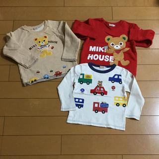 mikihouse - ミキハウス  プッチーくん トレーナー&Tシャツ 3点セット 100