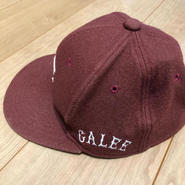 CALEE(キャリー)のCALEE えんじ キャップ メンズの帽子(キャップ)の商品写真