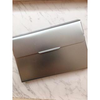 ムジルシリョウヒン(MUJI (無印良品))の名刺入れ カードケース スライド式 アルミ(名刺入れ/定期入れ)