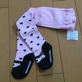 ミキハウス(mikihouse)のミキハウス  リーナちゃん だまし絵 タイツ 80 新品(靴下/タイツ)