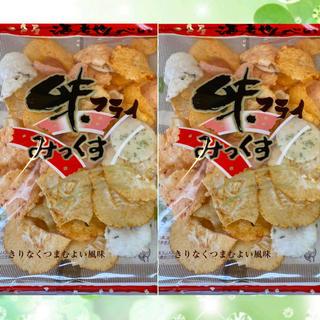 えびせんべい・人気のエビとイカのミックス『味フライミックス』2袋(新品)お菓子