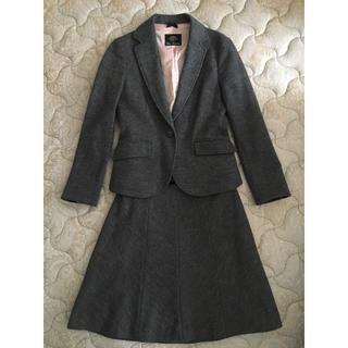 クリアインプレッション(CLEAR IMPRESSION)のクリアインプレッション フォーマル スカートスーツ グレー 秋冬 ウール(スーツ)
