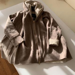 ダブルスタンダードクロージング(DOUBLE STANDARD CLOTHING)のダブスタ✨ニットブルゾン ベージュカラー(ニットコート)