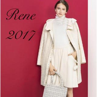 ルネ(René)のRene♡ 2017年 DM掲載 膨れ織りホワイトコート(ロングコート)