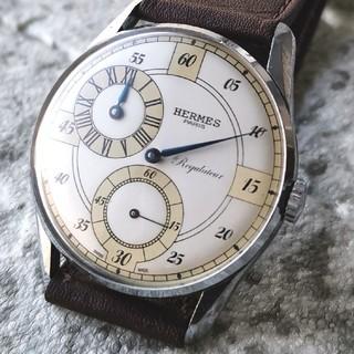 エルメス(Hermes)のOH済 エルメス HERMES レギュレーター 青針 手巻き 1940s(腕時計(アナログ))
