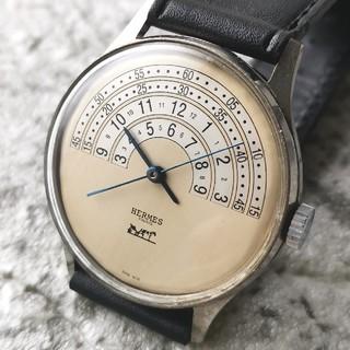 エルメス(Hermes)の【高級 OH済】エルメス HERMES 手巻き 1950's 青針 37mm(腕時計(アナログ))