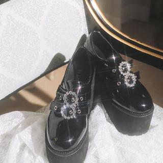 バブルス(Bubbles)のBUBBLES ダブルバックル厚底シューズ(ローファー/革靴)