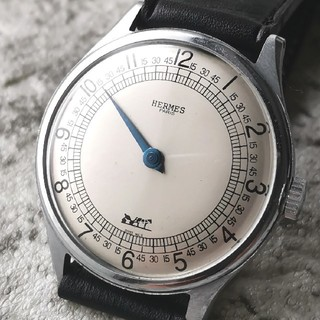 エルメス(Hermes)の【OH済 12時間で一周】エルメス HERMES 青針 手巻き 1950s(腕時計(アナログ))
