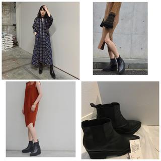 mame - mame kurogouchi レザーブーツ 黒 Mサイズ