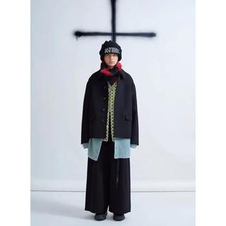 ラッドミュージシャン(LAD MUSICIAN)のSOUTIEN COLLAR SHORT COAT 17aw(ステンカラーコート)