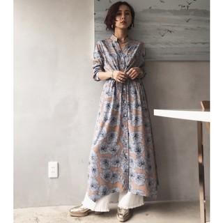 Ameri VINTAGE - アメリヴィンテージ TIE SHIRT DRESS 花柄ワンピース