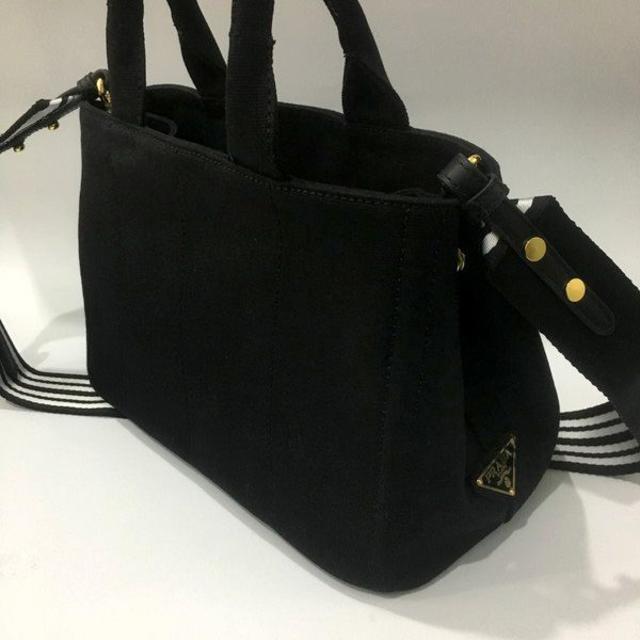 PRADA(プラダ)の送料込 2WAYバッグ ストライブネロブラック レディースのバッグ(ショルダーバッグ)の商品写真