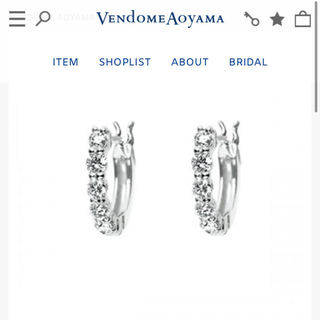 Vendome Aoyama - ヴァンドーム青山 ハーフエタニティピアス ダイヤモンド 現行品