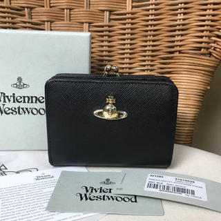 Vivienne Westwood - ◆新品◆Vivienne Westwoodサフィアーノレザー二つ折り財布ブラック