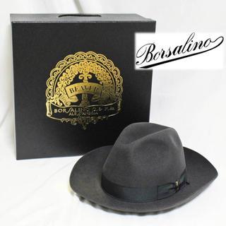 ボルサリーノ(Borsalino)の《ボルサリーノ》新品 高級ビーバーフェルトハット ワイドブリム 62cm(XL)(ハット)
