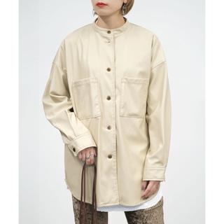 Ungrid - 【新品タグ付き】【2020新作】合皮スタンドカラーシャツジャケット