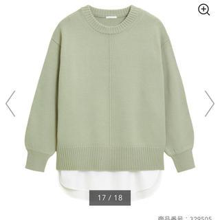 GU - シャツテールコンビネーションセーター(長袖)