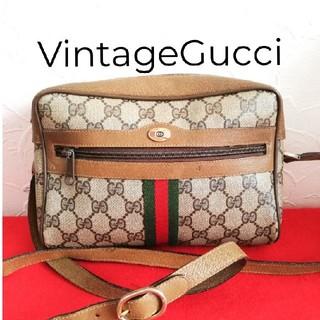 Gucci - 希少!オールドグッチ シェリーライン ビンテージショルダーバッグ 人気モデル