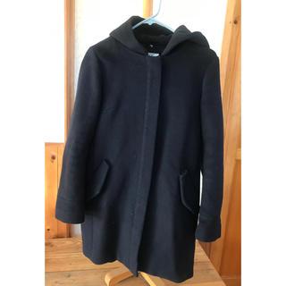 オゾック(OZOC)の紺色フード付きコート(ロングコート)