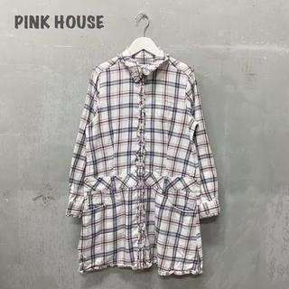 ピンクハウス(PINK HOUSE)の【PINK HOUSE】チュニックブラウス チェック ピンクハウス(チュニック)