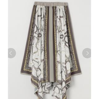 ジーナシス(JEANASIS)の新品未使用タグ付き‼️ジーナシス シフォンアソートスカーフスカート(ロングスカート)