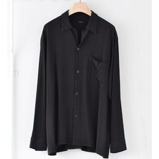 COMOLI - comoli 20ss レーヨンオープンカラーシャツ black 黒