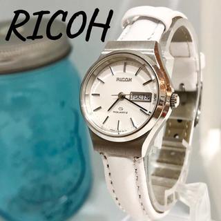 リコー(RICOH)の86 RICOH リコー時計 レディース腕時計 新品電池 新品ベルト ホワイト(腕時計)