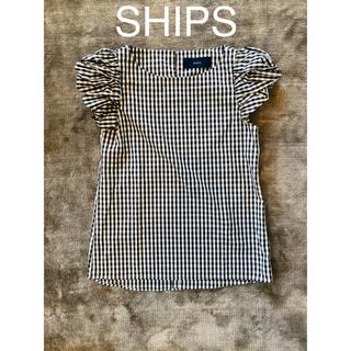 シップス(SHIPS)のSHIPS ギンガムチェック トップスブラウス 白黒(シャツ/ブラウス(半袖/袖なし))