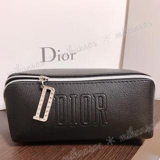 Dior - ディオール  ブラック ポーチ ノベルティ ノベルティー レザー コスメポーチ