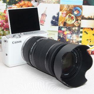 Canon - ❤️STMレンズ&予備バッテリー&カメラバッグ❤️Canon EOS M10❤️