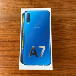 Galaxy - 【新品】GALAXY A7 ブルー SIMフリー 楽天版【送料無料】