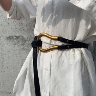 トーガ(TOGA)のBuckle belt BLACK No.452(ベルト)