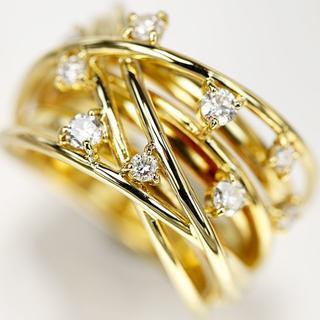 最終値下げ!!《新品仕上げ》 K18 ダイヤモンド デザインリング(リング(指輪))