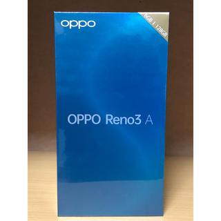アンドロイド(ANDROID)のOPPO Reno3 A  新品未開封 ブラック 黒 シムフリー 残債なし(スマートフォン本体)