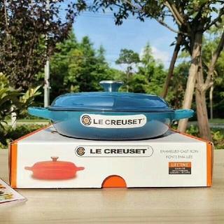 ルクルーゼ(LE CREUSET)の鋳鉄フレンチエナメルポットスープポットシーフードポット(容器)